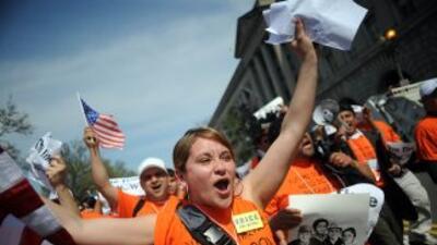 Los inmigrantes han vuelto a las calles para pedirle al Congreso que deb...