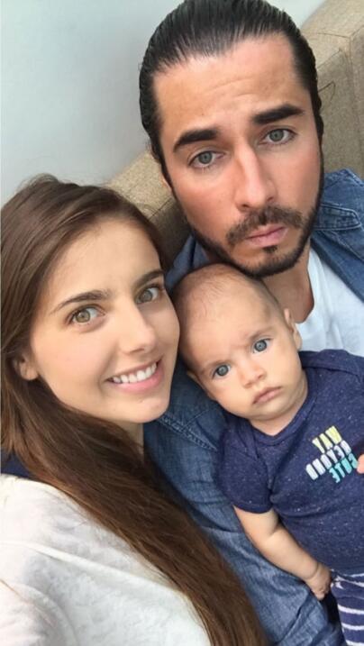 Michelle Renaud y su hijo Marcelo.