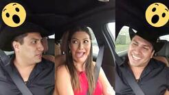Julión Álvarez se puso muy nervioso con Ana Patricia al volante