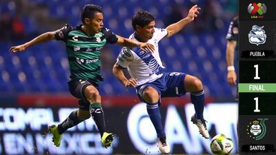 Santos fue mejor que Puebla pero no le alcanzó para llevarse la victoria