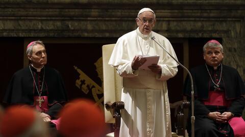 Papa Francisco en su mensaje a la curia