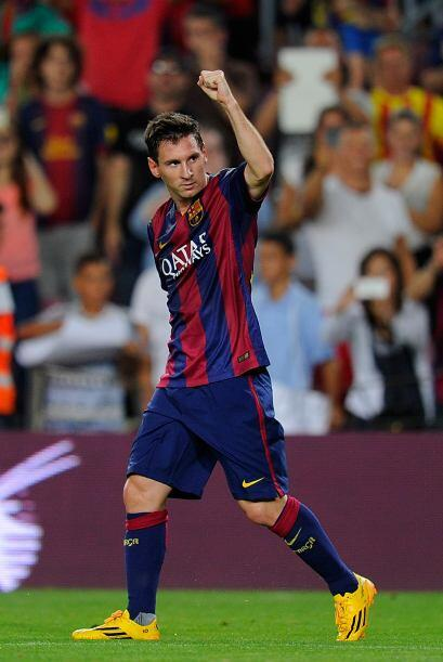 Messi arrancó la temporada en gran forma colaborando con un doble...