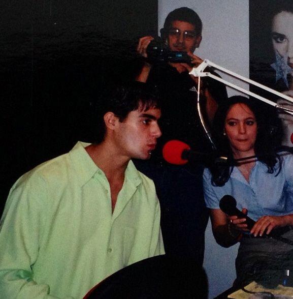 """""""Entrevistando a @ernestodalessio en mi primer trabajo en un medio..."""