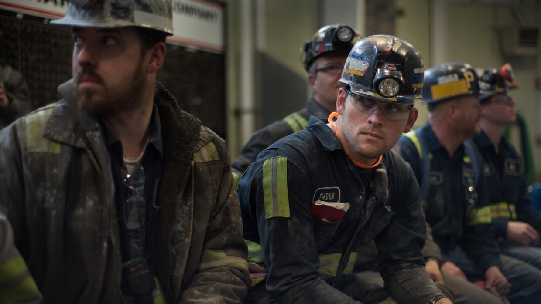 Trabajadores de una mina de carbón en Sycamore, Pennsylvania.