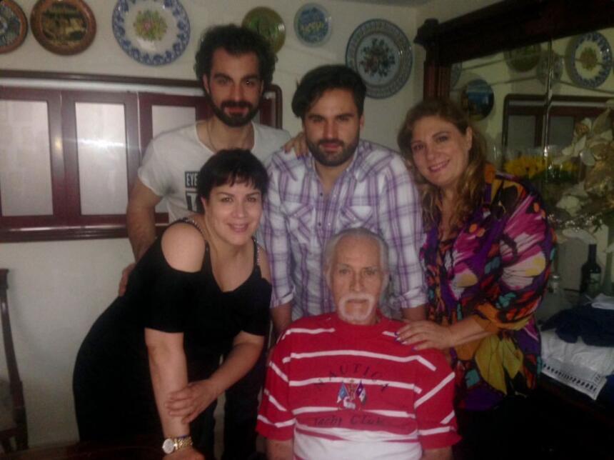 Rogelio Guerra y su familia