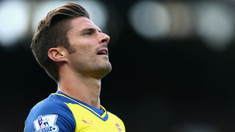 Giroud, de 27 años, se lesionó en el duelo contra el Everton (2-2).