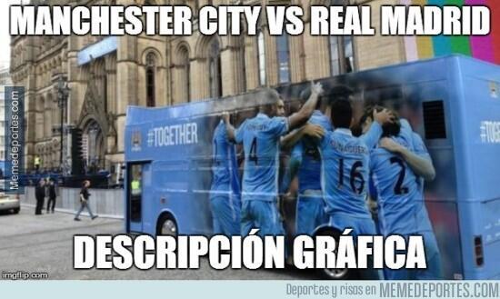 Memes del empate entre el City y el Madrid