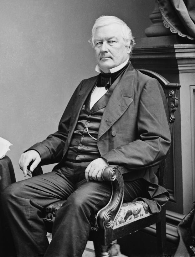 Millard Fillmore (1800–1874) y su esposa, Abigail Powers –ella fue su pr...