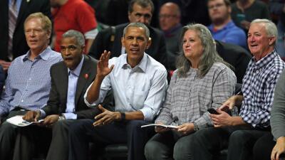 Barack Obama en juego de los Bulls