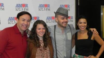 Javier Romero, Joy, Jesse y Paula Arcila, en El Desayuno Musical de Amor...