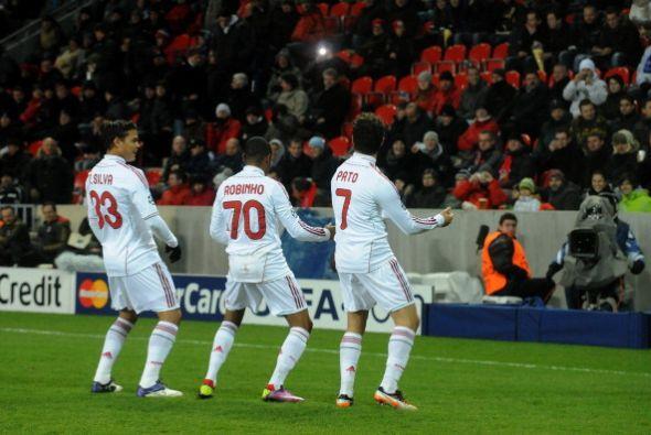 Era fiesta de los 'rossoneri' en la Champions.