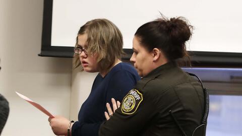 Morgan Geyser en el juzgado tras recibir la condena.