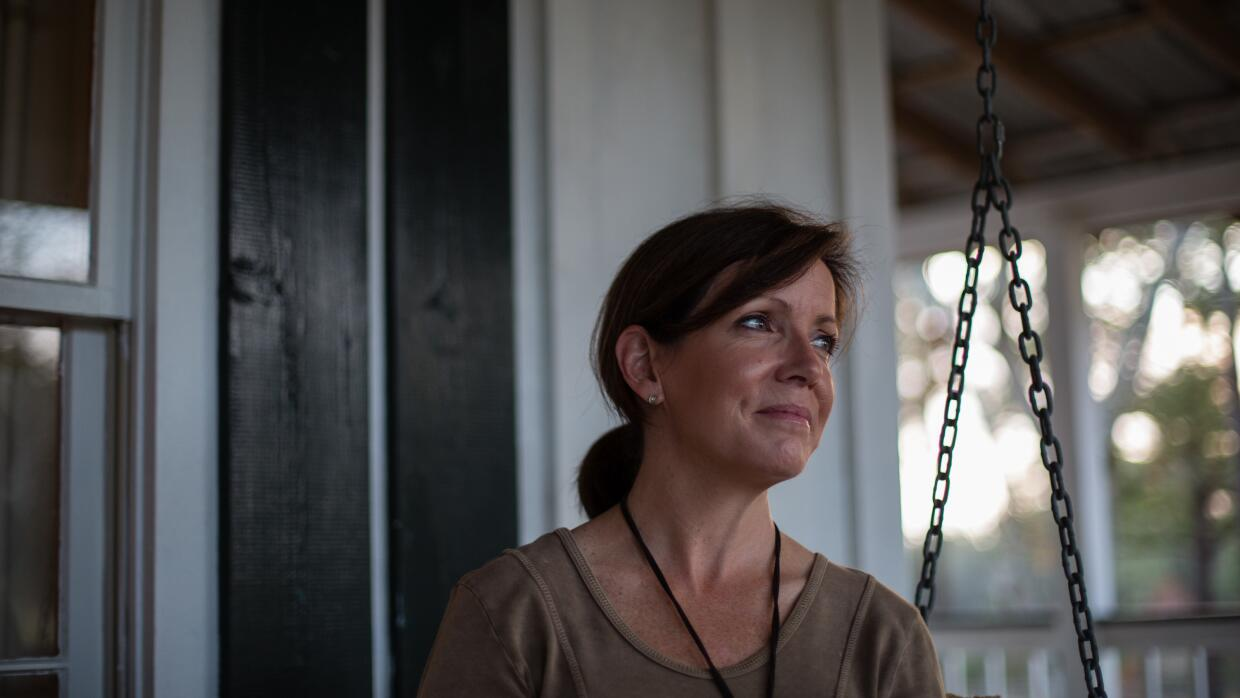Amy Thompson, a mother-of-two and former journalist in Fairhope, Alabama...