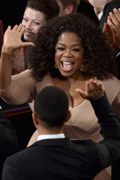 Oprah no paró de festejar.