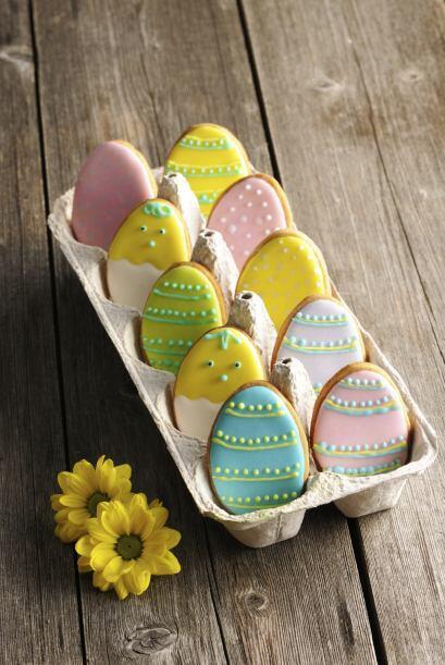 Prepara deliciosas galletas con forma de huevo y diviértete al momento d...