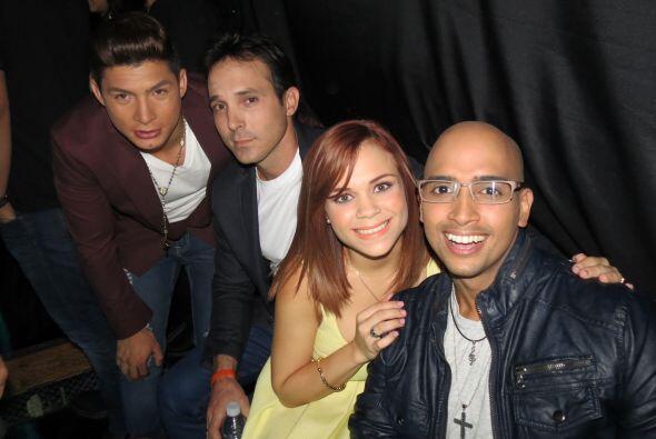 Ana Cristina, Raúl, Danny Montejo y José Palacio cantaron en el mismo gr...