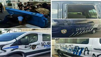 Vandalizan autos de la Policía de Puerto Rico en manifestación contra Promesa