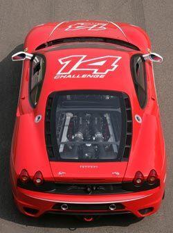 El F430 Challenge pesa considerablemente menos que la versión normal.