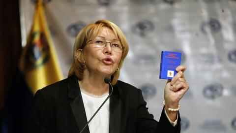 La fiscal general de Venezuela, Luisa Ortega Díaz, salió e...