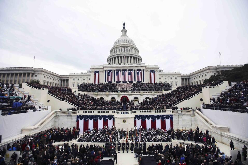 Vista del Capitolio donde se está produciendo la ceremonia de inauguración.