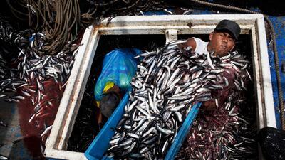 Una fotografía de Rodrigo Abd, de The Associated Press, en el puerto de...
