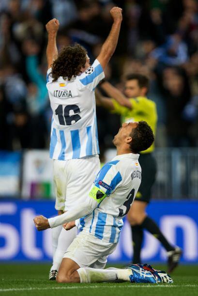 Ya no hubo más en este partido y el Málaga sigue dando de...