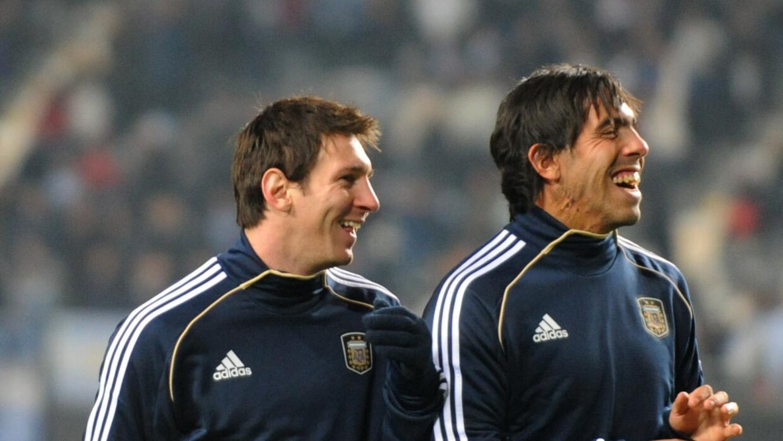 Lionel Messi y Carlos Tevez