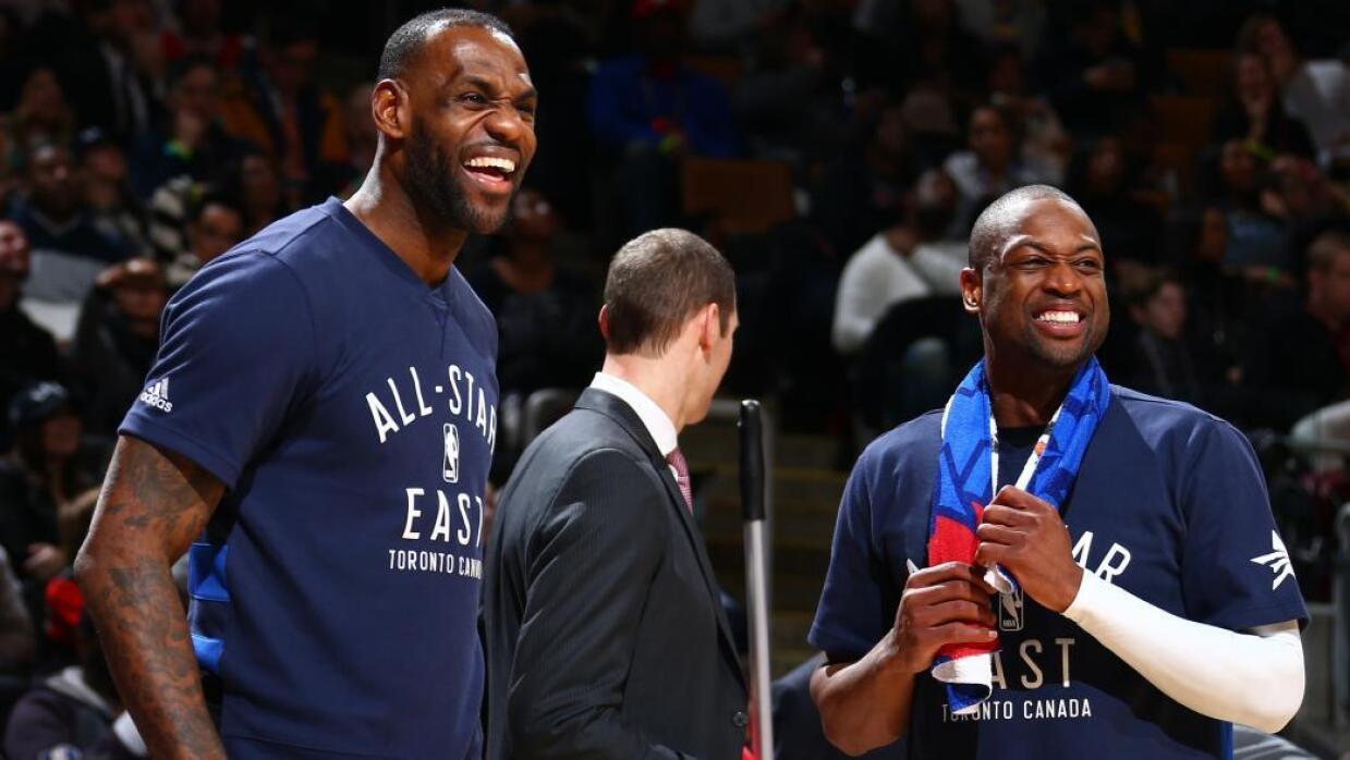 James y Wade ganaron dos títulos de la NBA juntos.