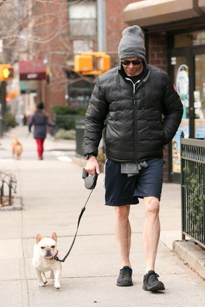No es la primera vez que Jackman es captado por las calles de su vecinda...