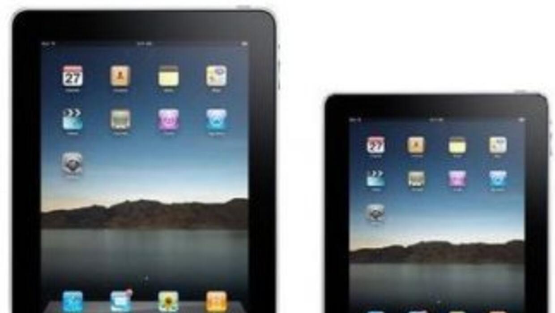La iPad y la que sería un Mini iPad se ven en esta ilustración.