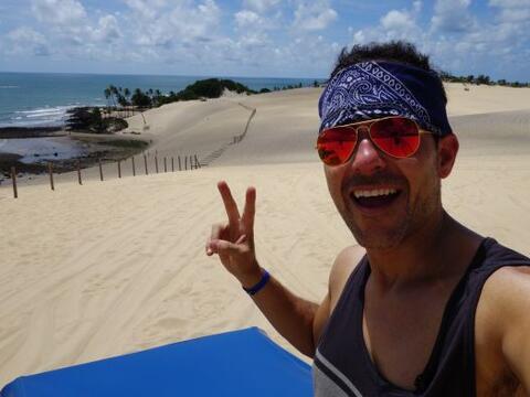 Carlos Calderón vivió una gran aventura en las dunas de Na...