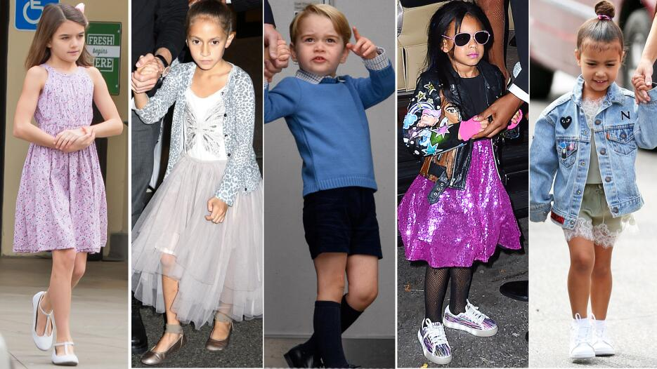 Suri Cruise; Emme Muñiz; príncipe William; Blue Ivy Carter; North West