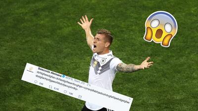 Hasta la cuenta de Twitter de Alemania enloqueció con el golazo de Toni Kroos de último segundo