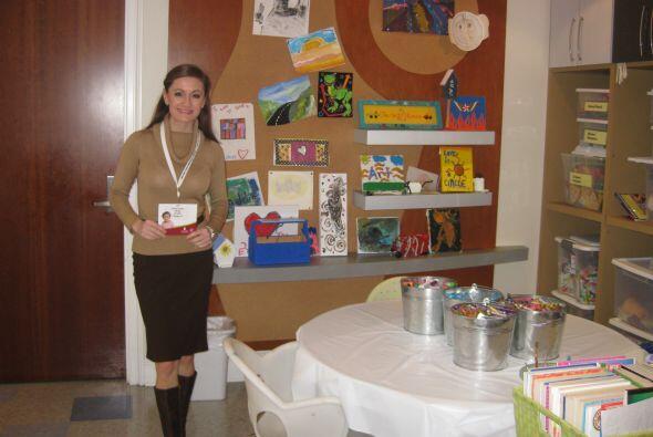 Paula en la casa Target, una de tres residencias donde hospedan a los pa...