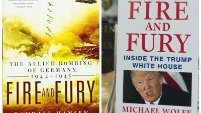 Portadas del libro 'Fuego y Furia' ('Fire and Fury') del historiador Ran...