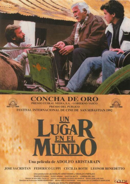 Un lugar en el mundo(1992), ArgentinaDirector: Adolfo AristarainReparto:...