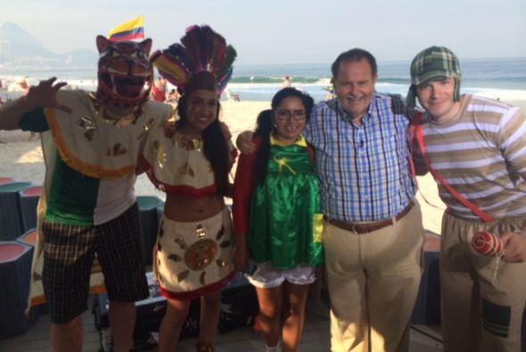 La Chilindrina y el Chavo del 8 son personajes muy conocidos en Brasil.