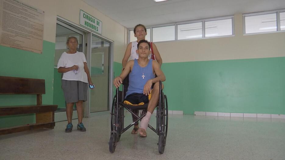 Durante los días de internación, la familia Castro durmió en el hospital