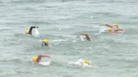 En video: Cruzan la frontera a nado para concientizar sobre los derechos...