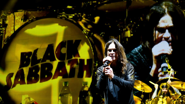 LOS ANGELES, CA - SEPTEMBER 24: Ozzy Osbourne of Black Sabbath performs...