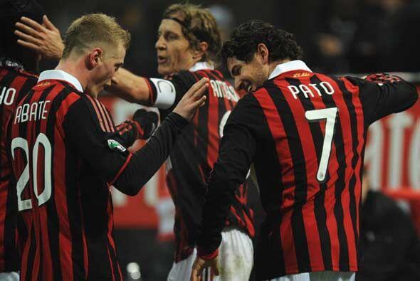 El Milan sigue así muy cerca de los dos primeros.
