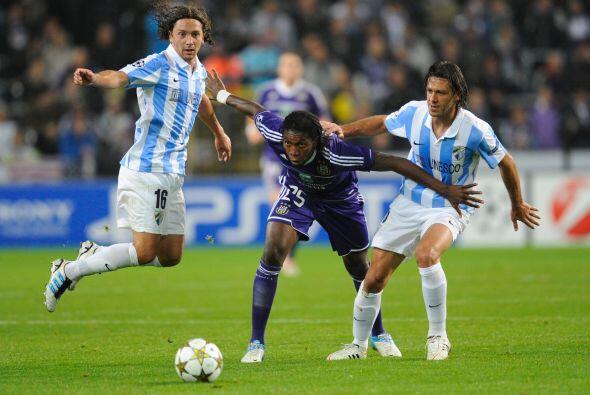 En Bélgina, el Anderlecht recibió al Málaga.
