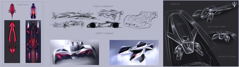 Imágenes de un Maserati Hypercar concept inspirado en Lionel Messi
