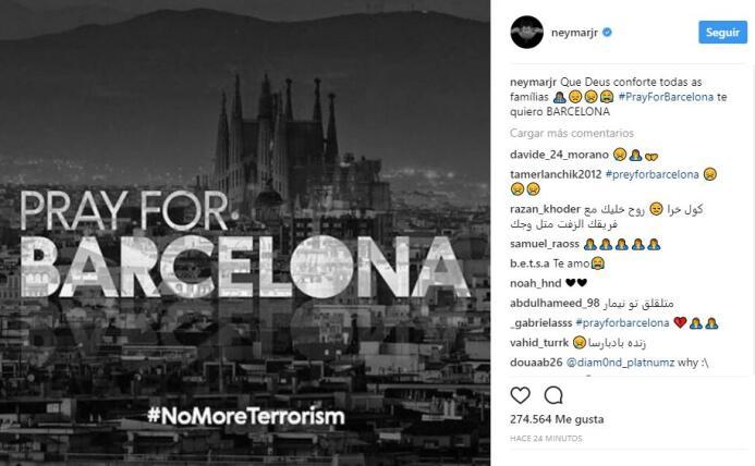 El mundo del deporte se solidariza con las víctimas de Barcelona BCN35.JPG