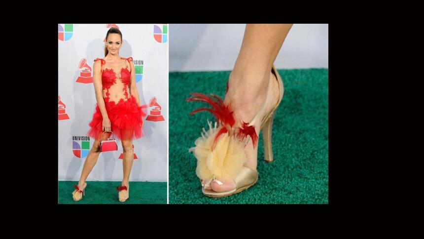 Las zapatillas más fashion de la alfombra de Latin GRAMMY
