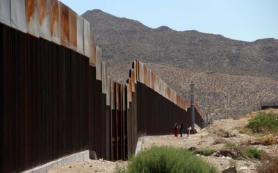 La actual barrera fronteriza entre México y EEUU.