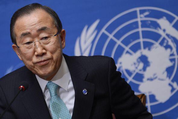 El secretario general de Naciones Unidas, Ban Ki-moon,  pidió tie...