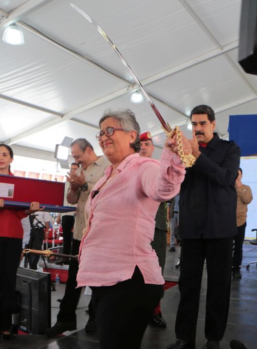 Tibisay Lucena y Nicolás Maduro