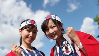 Las fanáticas de Japón y Senegal se tomaron las tribunas del Ekaterinburgo Arena