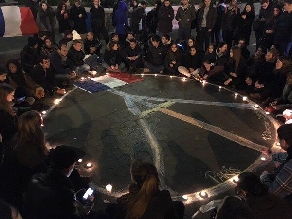 Estudiantes franceses en Union Square